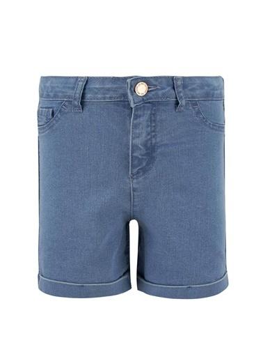 DeFacto Kız Çocuk Mini Jean Şort Mavi